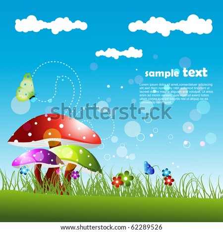 vector beautiful landscape artwork - stock vector