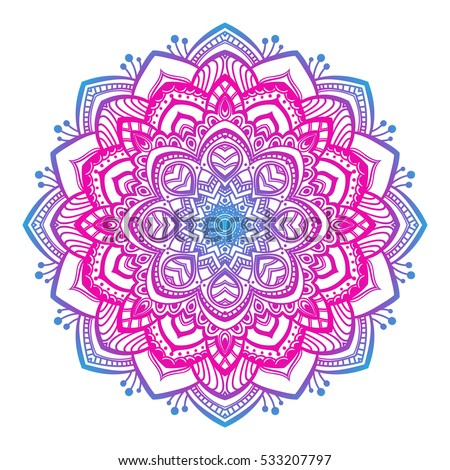 Vector Beautiful Mandala Vintage Decorative Element Stock