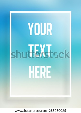 Vector - Beautiful simple summer frame for text - stock vector