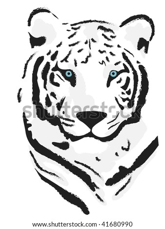 Vector beautiful tiger