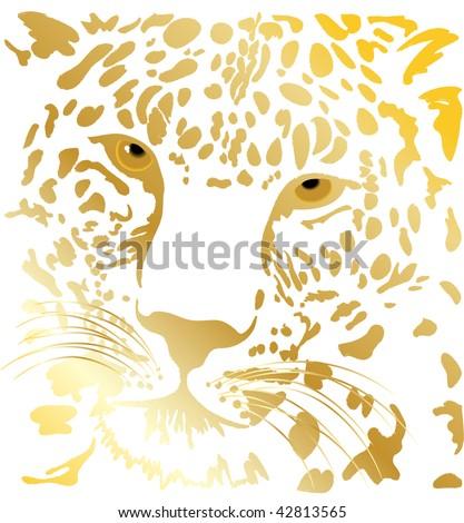 Vector beautiful tiger - stock vector