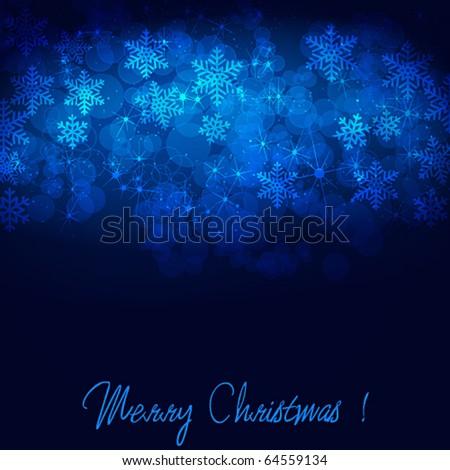 Vector beautiful winter background - stock vector