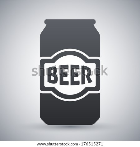 Vector beer can icon - stock vector