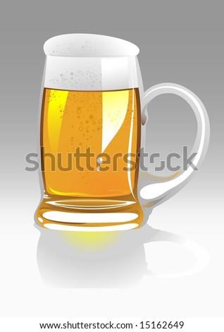 vector beer mug - stock vector