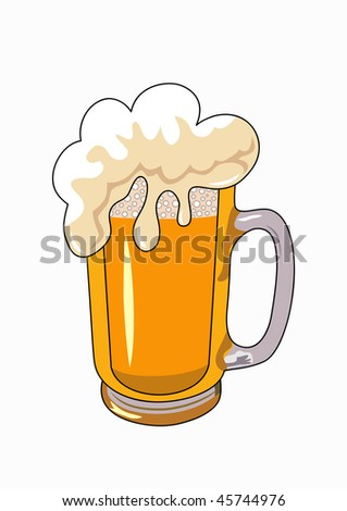 vector beer mug isolated on a white background - stock vector