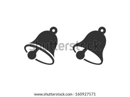 Vector Bell Icon Symbol - stock vector