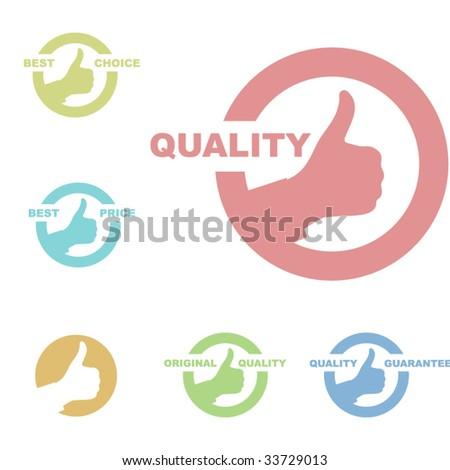 Vector best choice label - stock vector