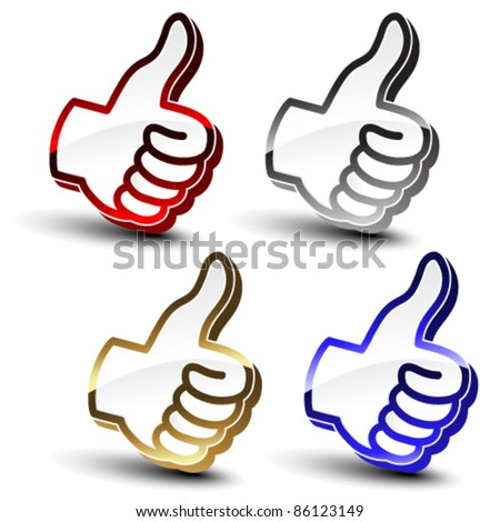 Vector best choice pointers of hand - stock vector