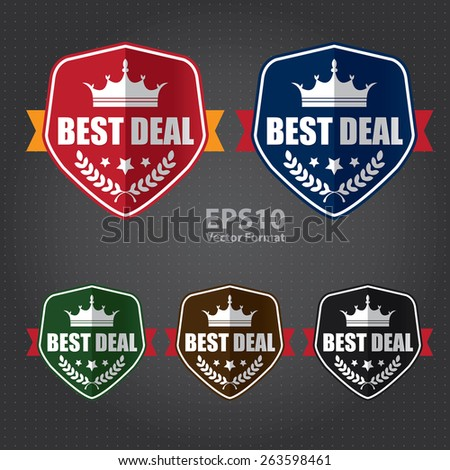 vector : best of the best 100% guarantee sticker, sign, stamp, icon, label  - stock vector