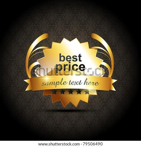 vector best price label design - stock vector