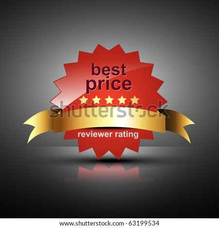 vector best price label in red color - stock vector