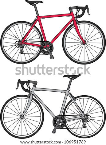 vector bicycle illustration - stock vector
