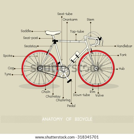 Vector Bicycle Illustration Text Ride Me Stock Vector HD (Royalty ...