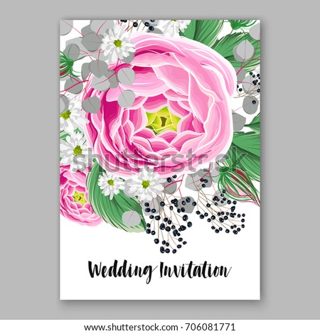 Vector big paper flower origami rose stock vector 706081771 vector big paper flower origami rose anemone peony wedding invitation floral card template mightylinksfo