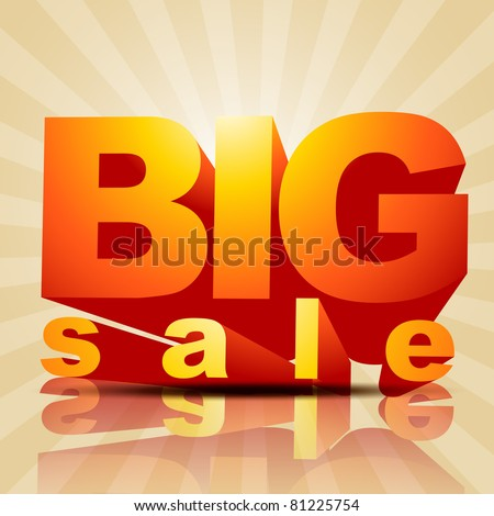 vector big sale poster style background - stock vector