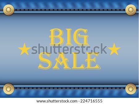 Vector big sale text on denim texture - stock vector