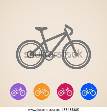 vector bike icons - stock vector
