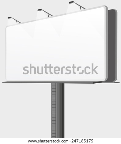 Vector bilboard - stock vector