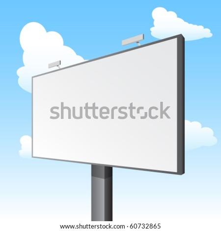 vector billboard - stock vector