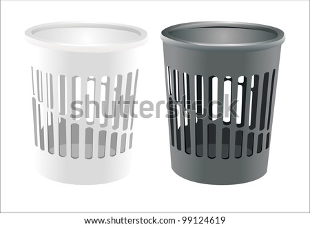 Vector bin set isolated on white - stock vector
