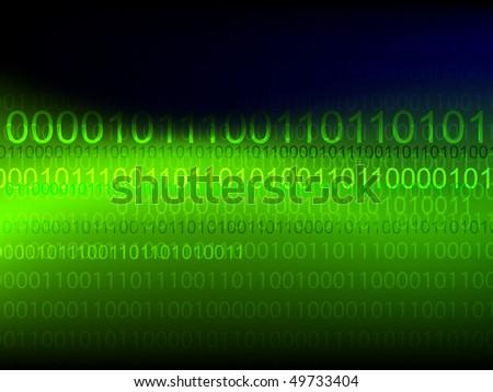 Vector binary technology background - stock vector