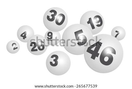 Vector Bingo / Lottery Ball Set - stock vector