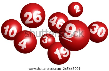 Vector Bingo / Lottery Number Balls Set