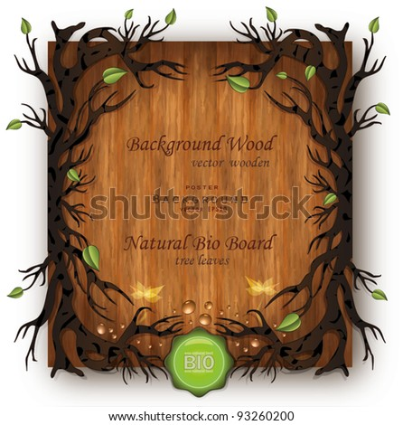 vector Bio background Wood - stock vector