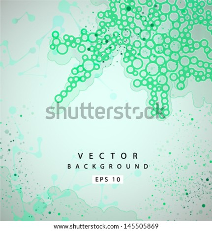 Vector bio grunge background - stock vector