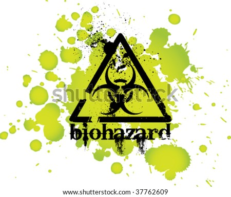 vector biohazard sign - stock vector