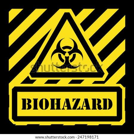 Vector biohazard sign yellow and black - stock vector