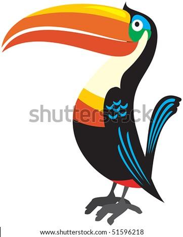 Vector bird toucan - stock vector