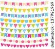 Vector birthday party decoration - stock vector