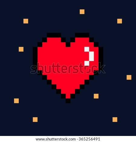 8 Bit Love Vector Art amp Graphics  freevectorcom