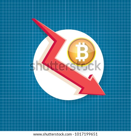 Vector bitcoin market crash graph on stock photo photo vector vector bitcoin market crash graph on blueprint background bitcoin hype concept vector illusrtation with blank malvernweather Images