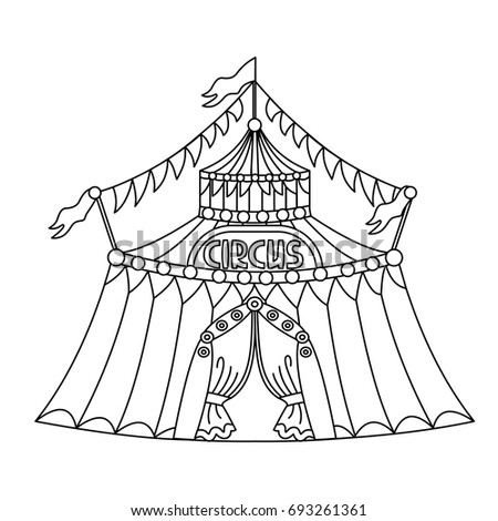 big top tent coloring pages - photo#13