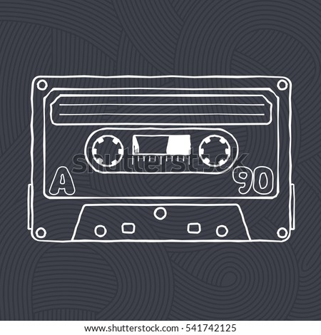 black advertisements vector black white illustration compact tape stock vector
