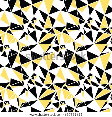 Vector Black Yellow Triangles Abstract Seamless Stock Vector (2018 ...