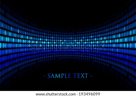 Vector black background with blue lights with space for your text - stock vector
