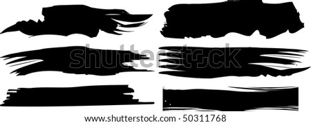 vector black banners set