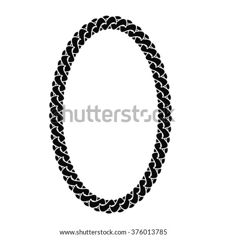 Vector Black Chain Oval Frame