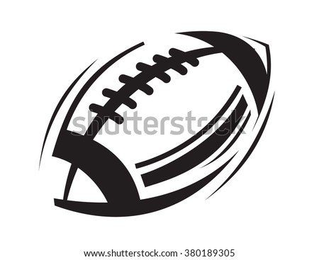 vector black Football icons on white background - stock vector