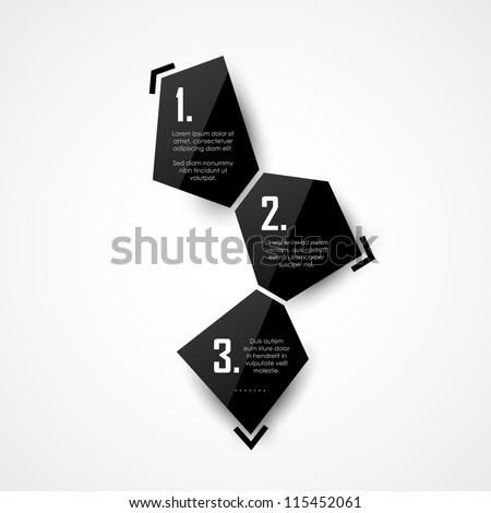 Vector black glossy panels - stock vector