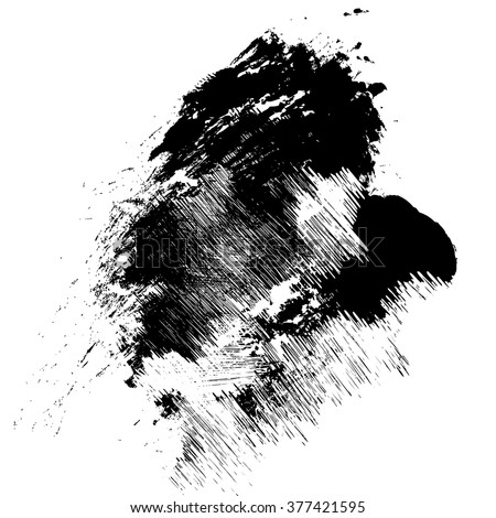 vector black grunge brush strokes ink paint isolated on white background