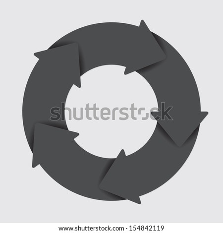 Vector black life cycle diagram. 5 Steps. - stock vector