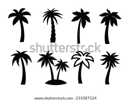 vector black palm icon on white stock photo photo vector rh shutterstock com palm vector ladies palm vector ladies