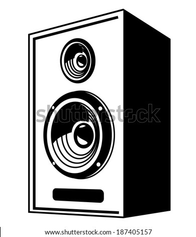 vector black speaker icon on white stock vector 2018 187405157 rh shutterstock com speaker vector free download loudspeaker vector