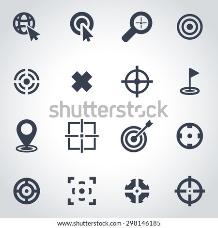 Vector black target icon set. Target Icon Object, Target Icon Picture, Target Icon Image, Target Icon Graphic, Target Icon JPG, Target Icon EPS, Target Icon AI - stock vector - stock vector