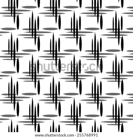 Vector black - white texture of the ellipse. Geometric background. - stock vector