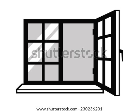 vector black Window icon on white background